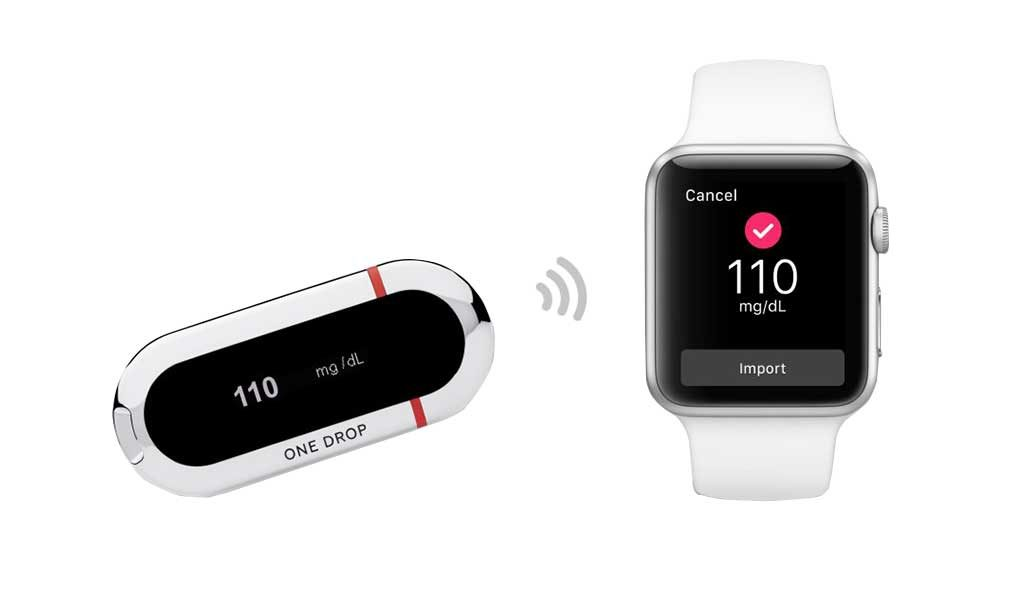 iWatch One Drop Blood Sugar Monitor